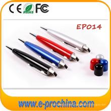 2016 Hot Customized Logo Ballpoint Pen USB Flash Drive Pen Drive
