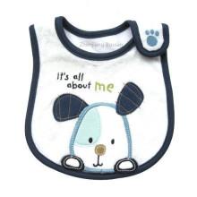 Babero de bebé impreso bordado personalizado de dibujos animados promocionales