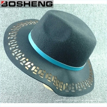 Lã, oco, saída, largo, borda, cúpula, feltro, chapéu
