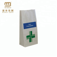 Custom Design Kraft Hospital Pill Medicine Packaging Paper Bags For Pharmacy