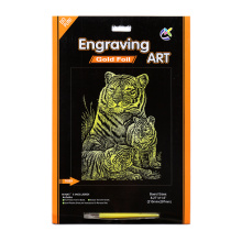 Artificial Crafts of Gold Tigger A4 Scratch cards