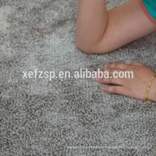 100% polyester microfiber rubber flooring exhibition carpet long pile 100% polyester machine washable entrance mat