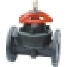 Válvula de Diafragma de Plástico / Válvula de Diafragma de PVC / Válvula de Diafragma de PVDF / Válvula de Diafragma Termoplástica