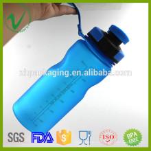 Resistente al calor BPA Libre botella vacía redonda de plástico joyshaker deporte de agua