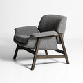 Original Agnese Wooden Upholstered Lounge Armchair