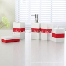 Set de salle de bain en céramique avec silicone