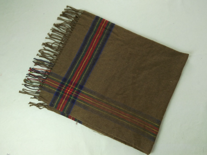 Imitation Cashmere Woven Scarf Olive
