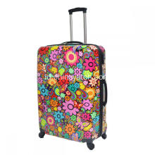 Nice Printing ABS & PC Luggage Set dengan Trolley Aluminium