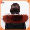 buena calidad china natural o teñido de piel de mapache de color real piel de mapache recorte para la capucha