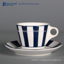Дешевый фарфоровый кофейный стакан на заказ костяной фарфоровый чай Кубок керамический чай Cup and Sausers
