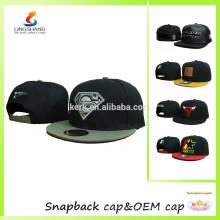 Hip Hop Stickerei Logo flachen Hut Baseball Cap Snap Caps