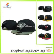 Casquillos planos del casquillo del casquillo del sombrero del logotipo del bordado de la cadera del salto de la cadera