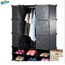 PP Plastic Material Bedroom Wardrobe (closet)
