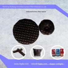 Filtro de fibra de carbono de catalizador de catalizador frío antimicrobiano