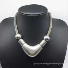 Grand collier de perles de bonne surface en alliage (XJW13772)