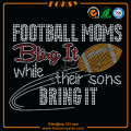 Football Moms iron on crystal appliques