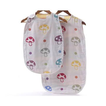 100% Cotton Muslin Mushroom Baby Sleeping Bag with 6 Layers Gauze