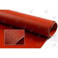 Einseitige Silikon beschichtete Fiberglas rote Farbe