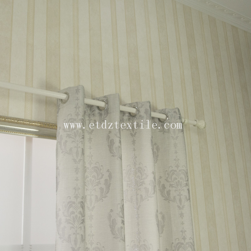Popular Linen Pattern curtain fabric 6020#