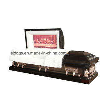 Brown and Copper Brushed Casket