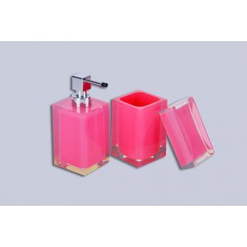 Accessoires de salle de bain en acrylique Rose