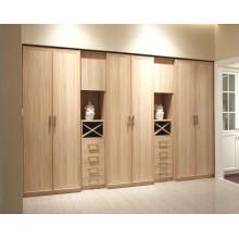 Modern Style Laminate MDF Swing Door Living Room Wardrobe