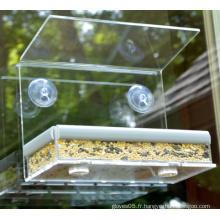 Alimentateur d'oiseaux acryliques à vente chaude pour jardin (ymb6025)