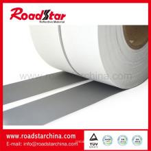 Preço de fábrica de prata reflexiva material de couro sintético pu