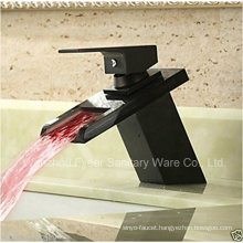 2015 New Orb Bathroom Waterfall LED Basin Faucet (QH140418BF)