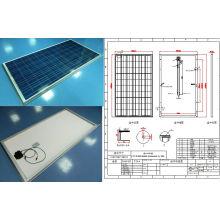 Module de panneau solaire polycristallin de panneau de 250W avec l'OIN de Ce TUV approuvé