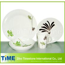 Service de vaisselle 16 pièces Porcelain Palm pour 4 personnes (616049)