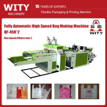 Automática de alta velocidad T-shirt bolsa que hace la máquina