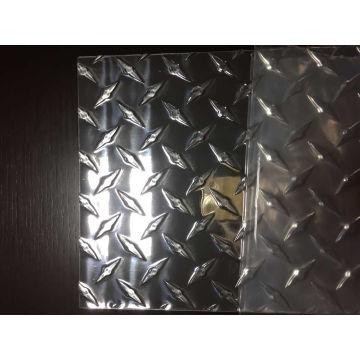 3003 Patrón de aluminio del diamante de la hoja para el carro