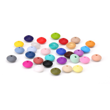 10mm Lentil Silicone Loose Beads a granel