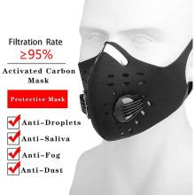 Equipos de tela transpirable Máscaras de polvo para bicicletas deportivas