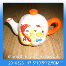 Cutely duck ceramic teapot for kitchen