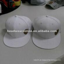 Algodão snapback cap com logotipo de alta freqüência