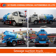4X2 15cbm Sewage Suction Truck 180HP Vacuum Suction Truck