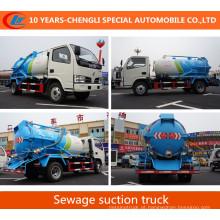 Caminhão da sucção do vácuo 180HP do caminhão da sucção da água de esgoto de 4X2 15cbm