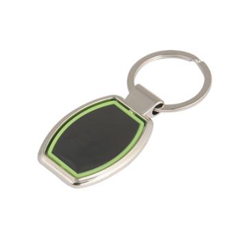 Werbeartikel Gravur Logo Zink Alu Metall Schlüsselanhänger mit Kunststoff (F1015C)