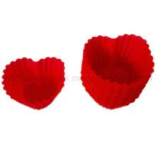 Coração em forma de molde de bolo de silicone (RS40)