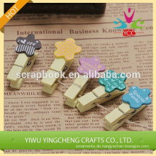 China billige einfache Clips zu Hause Dekoration neue Produkt Holz Clip Büroklammer