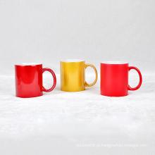 Caneca de porcelana de copo de logotipo cerâmica personalizada esmalte colorido