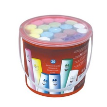 Jumbo Dustless Sidewalk Chalks In Rectangle Plastic Bucket