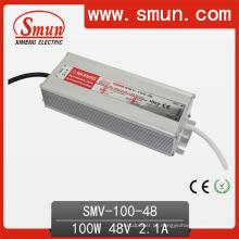 Motorista impermeável IP67 do diodo emissor de luz da fonte de alimentação do interruptor de 48VDC 2.1A 100W
