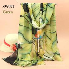 New 2015 Summer Designer Bohemian Comfortable Colorful Print Chiffon Scarves Wraps Of Women Acessórios Vestuário