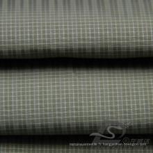 Veste à manches résistant à l'eau et au vent en flan Tissé jacquard tissé 100% en polyester Tissu en fil de fil de mer (X050)