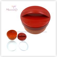 Оптовая круглая Коробка Бэнто пластиковый ланч с ручкой (500мл)