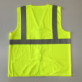 ANSI / ISEA 107 colete de segurança reflexivo amarelo zíper barato com EN 20471 3m fita reflexiva