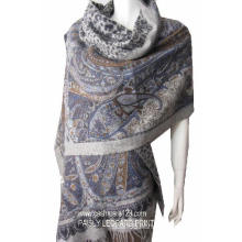 100% Wool Shwl Paisly Print Scarf